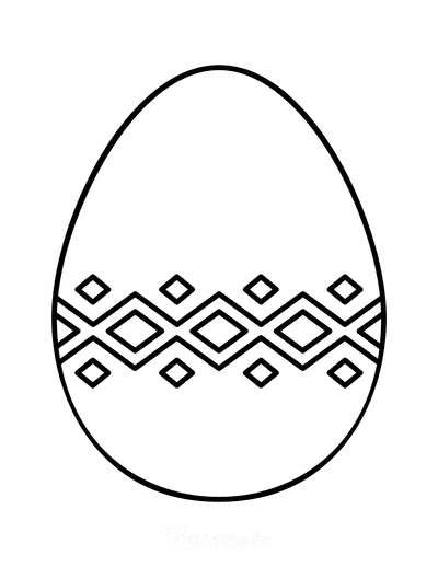 Easter Egg Coloring Simple Pattern 17