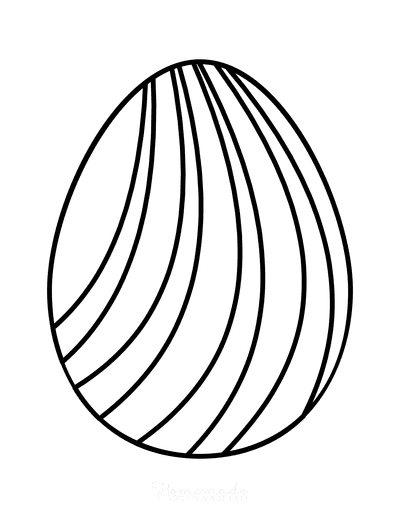 Easter Egg Coloring Simple Pattern 18