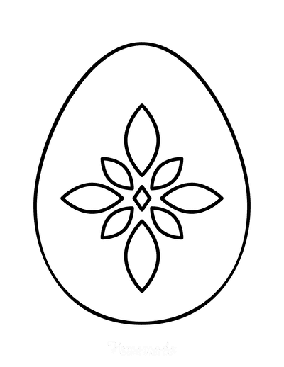 Easter Egg Coloring Simple Pattern 19