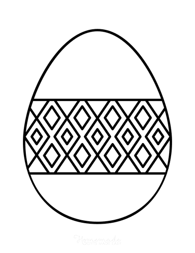 Easter Egg Coloring Simple Pattern 20