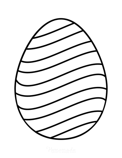 Easter Egg Coloring Simple Pattern 3