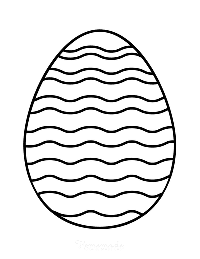 Easter Egg Coloring Simple Pattern 5