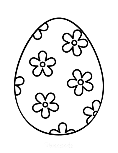 Easter Egg Coloring Simple Pattern 6