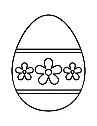 Easter Egg Coloring Simple Pattern 9
