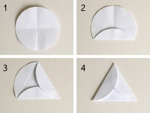 easy to make christmas ornaments geodesic step 2 triangle template