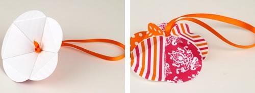 easy to make christmas ornaments geodesic step 5 poke ribbon through hole