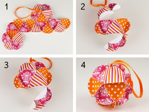 Easy to make christmas ornaments step by step tutorials for Paper christmas decorations to make at home