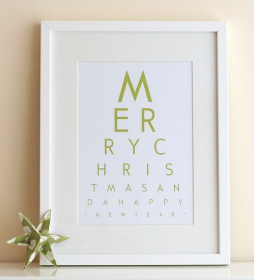 Christmas eye chart art
