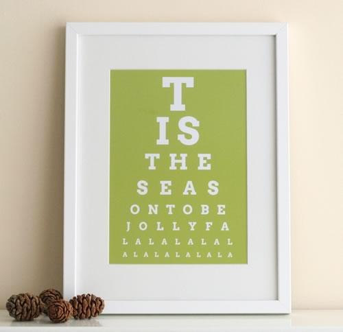 Christmas eye chart art