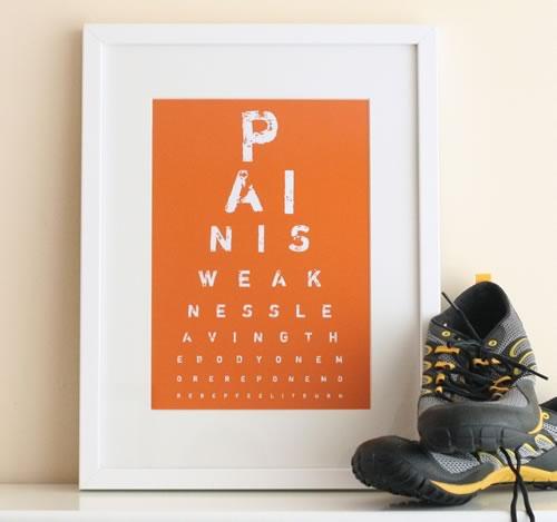 gym eye chart art