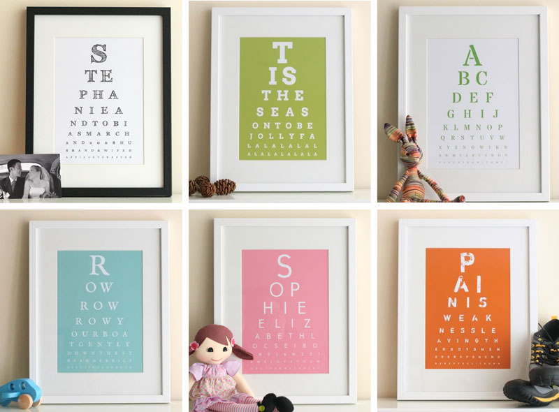 eye chart maker art ideas