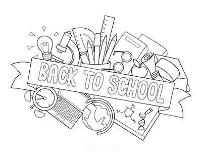 Fall Coloring Pages Back to School