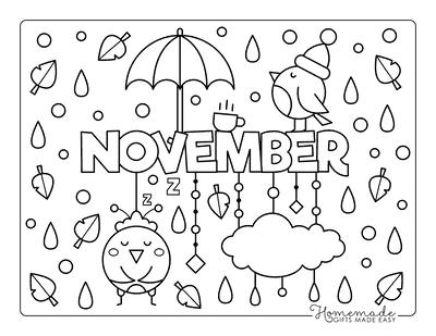 Fall Coloring Pages November