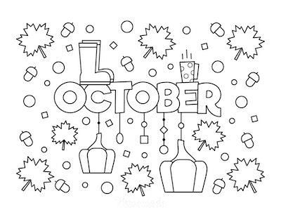 Fall Coloring Pages October