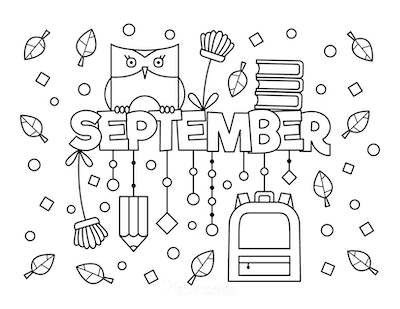 Fall Coloring Pages September