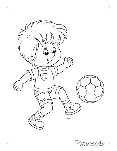 Fall Coloring Pages Soccer Practice