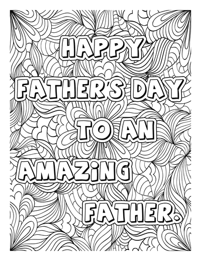 Fathers Day Coloring Pages Amazing Father Doodle