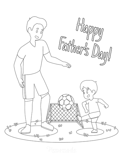 Fathers Day Coloring Pages Football Soccer