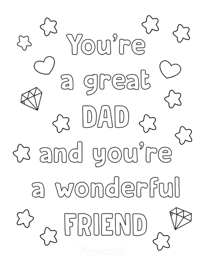 Fathers Day Coloring Pages Great Wonderful Dad Friend