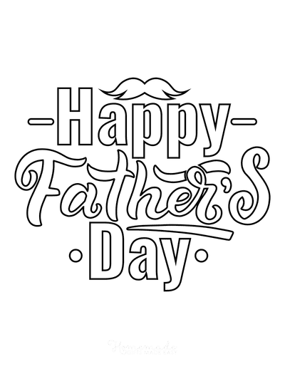 Fathers Day Coloring Pages Happy Day Word Art