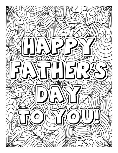 Fathers Day Coloring Pages Happy Doodle for Adults