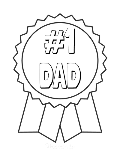 Fathers Day Coloring Pages Number One Dad