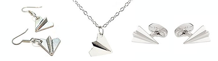 first anniversary gift paper airplane jewelry