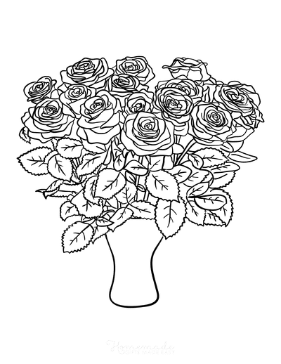 112 Beautiful Flower Coloring Pages