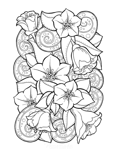 Flower Coloring Pages Doodle to Color 2