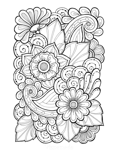Flower Coloring Pages Doodle to Color 4