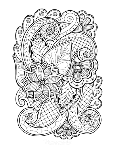 Flower Coloring Pages Doodle to Color 5
