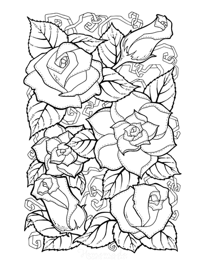 Flower Coloring Pages Doodle to Color 6