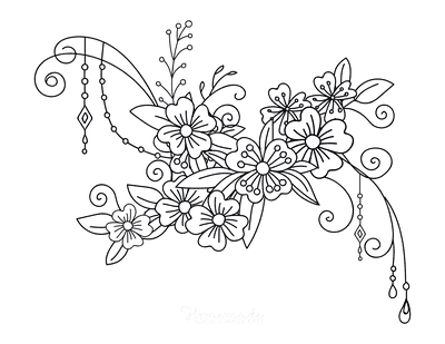 Flower Coloring Pages Flower Doodle