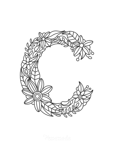 Flower Coloring Pages Letter C