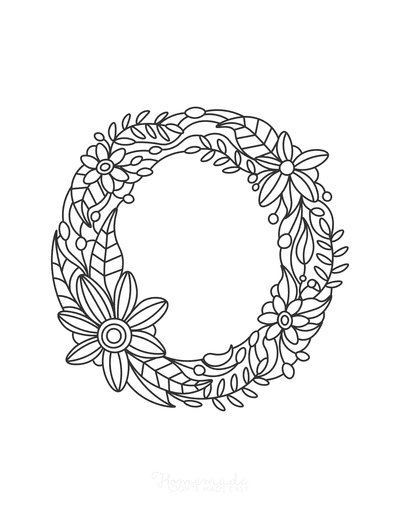 Flower Coloring Pages Letter O