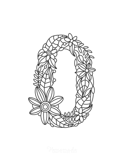 Flower Coloring Pages Number 0