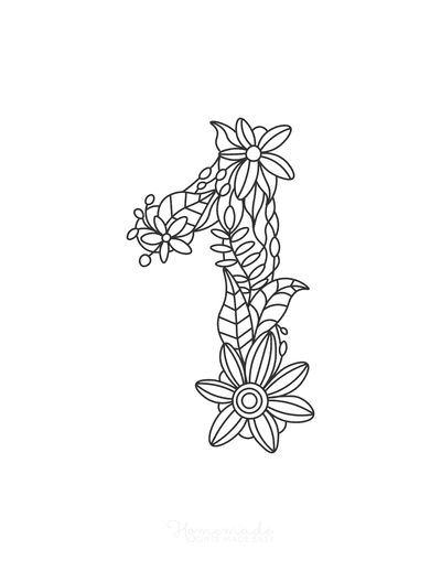 Flower Coloring Pages Number 1