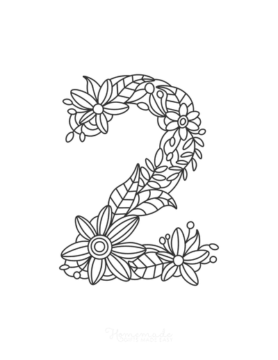 Flower Coloring Pages Number 2
