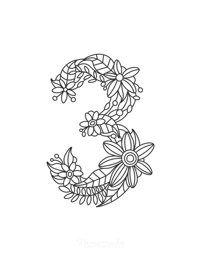 Flower Coloring Pages Number 3
