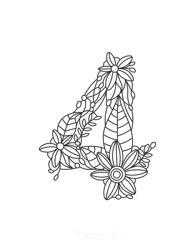 Flower Coloring Pages Number 4
