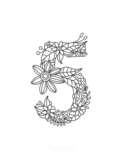 Flower Coloring Pages Number 5