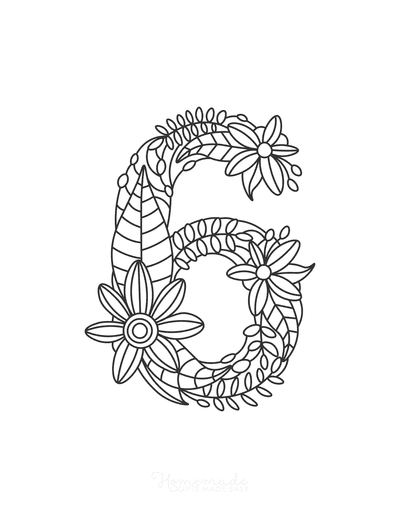 Flower Coloring Pages Number 6