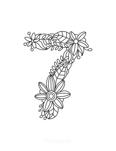 Flower Coloring Pages Number 7