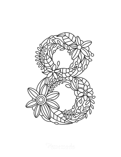 Flower Coloring Pages Number 8
