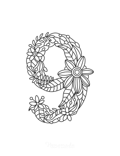 Flower Coloring Pages Number 9