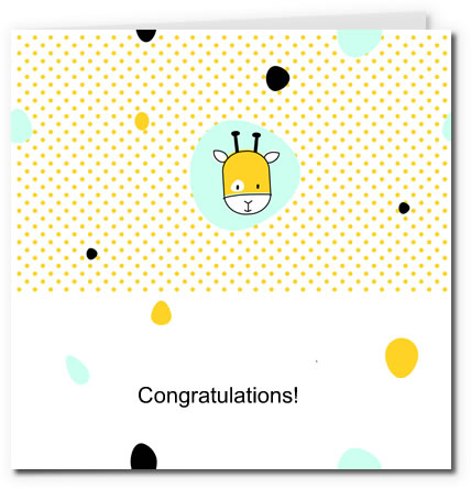 free printable baby cards - giraffe