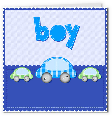 free printable baby cards - fabric boy