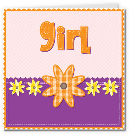 free printable baby cards - fabric girl