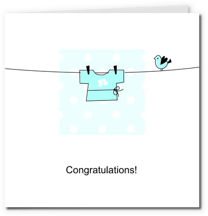 free printable baby cards - clothes boy