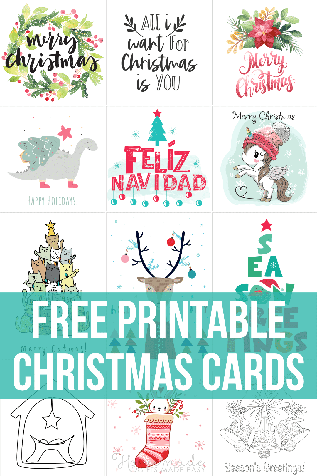 free printable christmas card collage